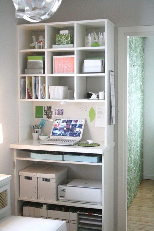 Idei pentru biroul de acasa idei pentru casa si gradina - Office storage ideas small spaces concept ...