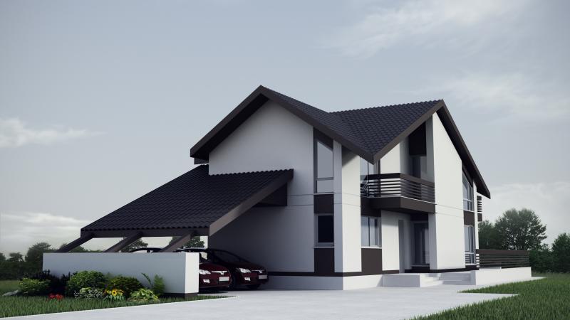 Proiecte de casa cu imagini chisinau tattoo design bild for Casa moderna in moldova