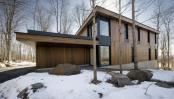 cabane din lemn. Quebec