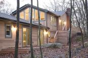Casa Sag Harbor. Case din lemn