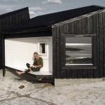 Cabana din lemn Vardehaugen. Norvegia