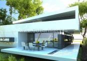 Proiect casa minimalista cu etaj Pipera, Ilfov (Cod AGF)