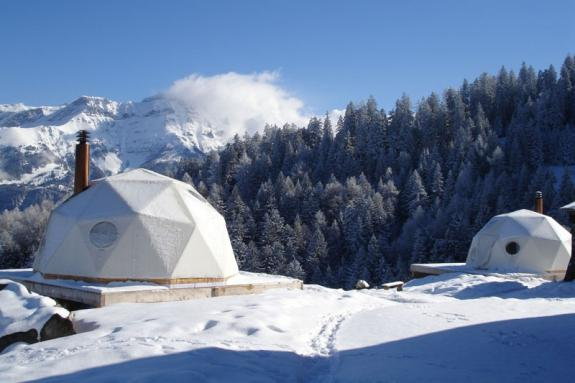 Statiunea Whitepod din Alpii elvetieni