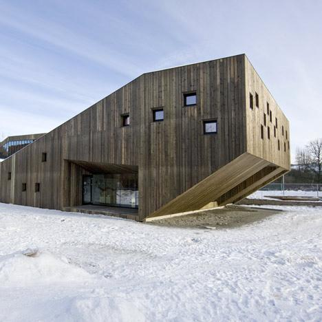 Constructii din lemn. Gradinita Fagerborg