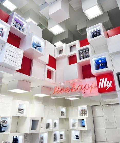 Magazinul brandului de cafea Illy