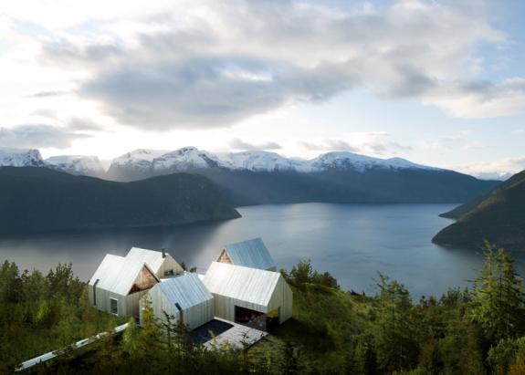 Hotelul cabanelor din Sognefjorden. Norvegia