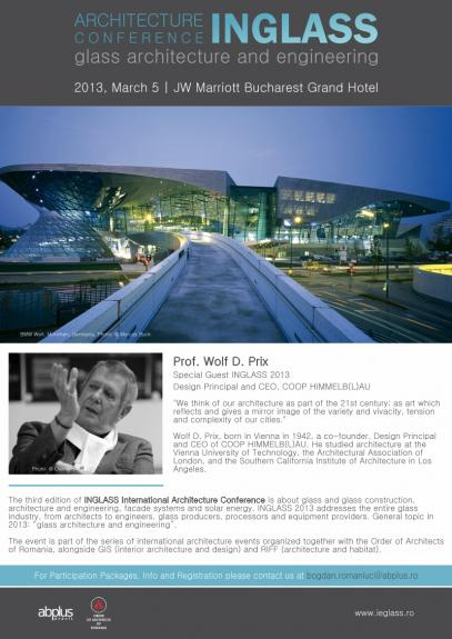 Conferinta Internationala de Arhitectura INGLASS 2013