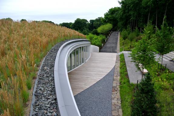 Centrul pentru vizitatori al gradinii botanice din Brooklyn