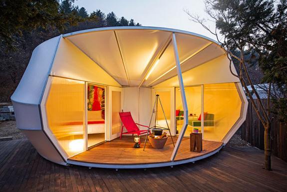Corturile high-tech ofera confortul unei case in mijlocul naturii