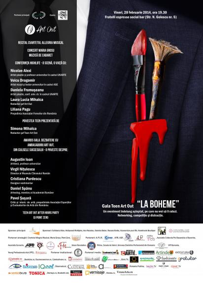 "S-a incheiat Gala Teen Art Out ""La Boheme"""