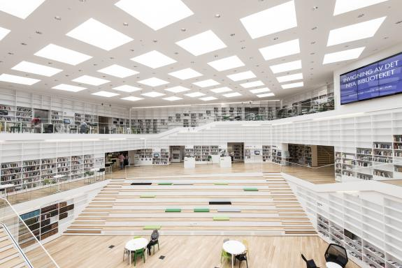Biblioteca media Dalarna din Falun, Suedia
