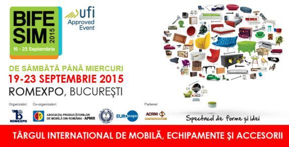 Doar o lună până la cel mai important eveniment pentru piaţa mobilei din România! BIFE-SIM - 19 - 23 septembrie 2015, la Romexpo