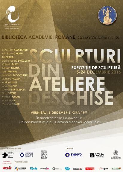 """""""Sculpturi din Ateliere Deschise"""" Un eveniment Contemporanii la Biblioteca Academiei Romane Bucuresti, 5 decembrie 2016"""